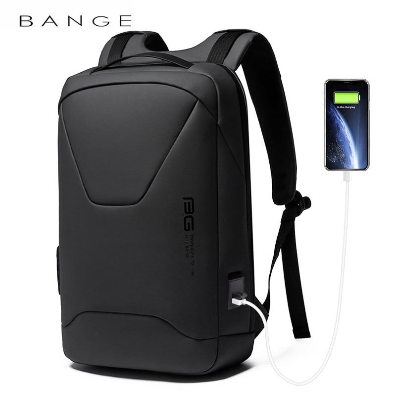 BANGE-حقيبة ظهر للكمبيوتر المحمول مقاومة للماء للرجال ، حقيبة ظهر جديدة للكمبيوتر المحمول ، مقاومة للماء ، 15.6 بوصة ، للعمل اليومي ، نمط المدرسة