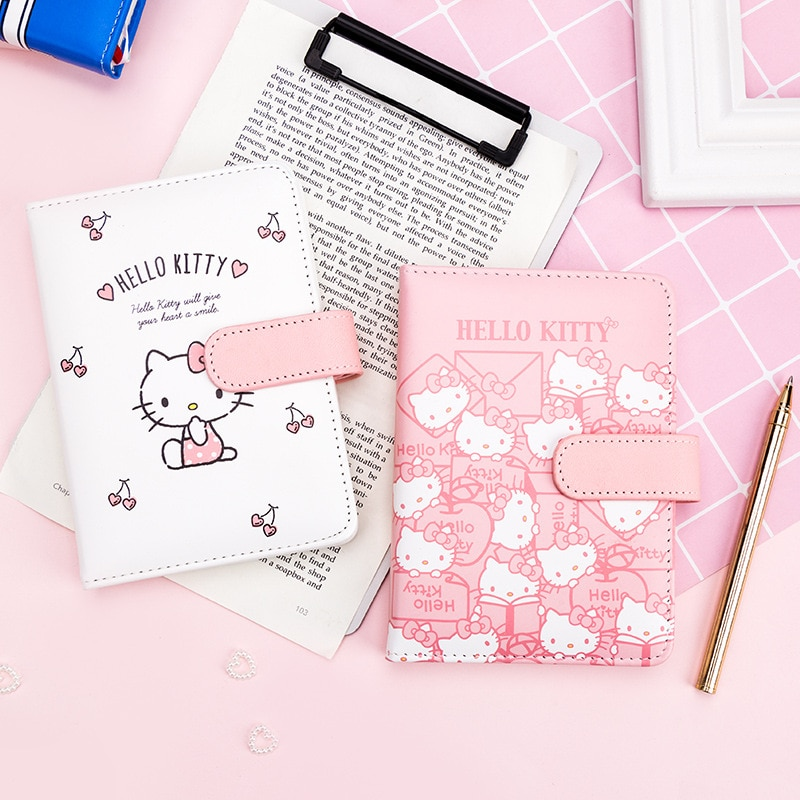 Sweet Kitty Face Cute Diary Leather Cover Journal Book Female Hand Book Notebook Student Portable Travel Book 40packs lot cowhide korean retro exercise book student cute soft face copy small book cartoon notebook