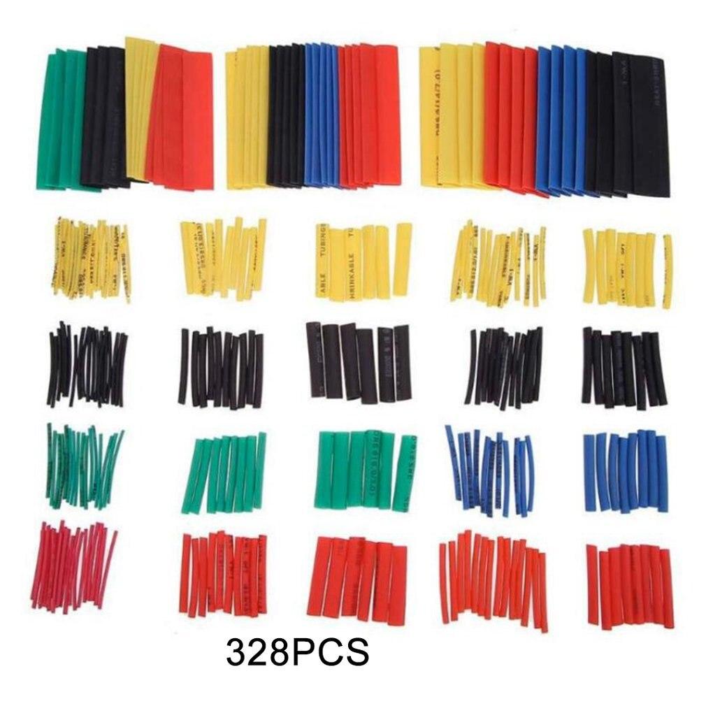 Tubos termo retráteis, tubo termo encolhível de cores, tubo retardante de chama isolante, 328 peças