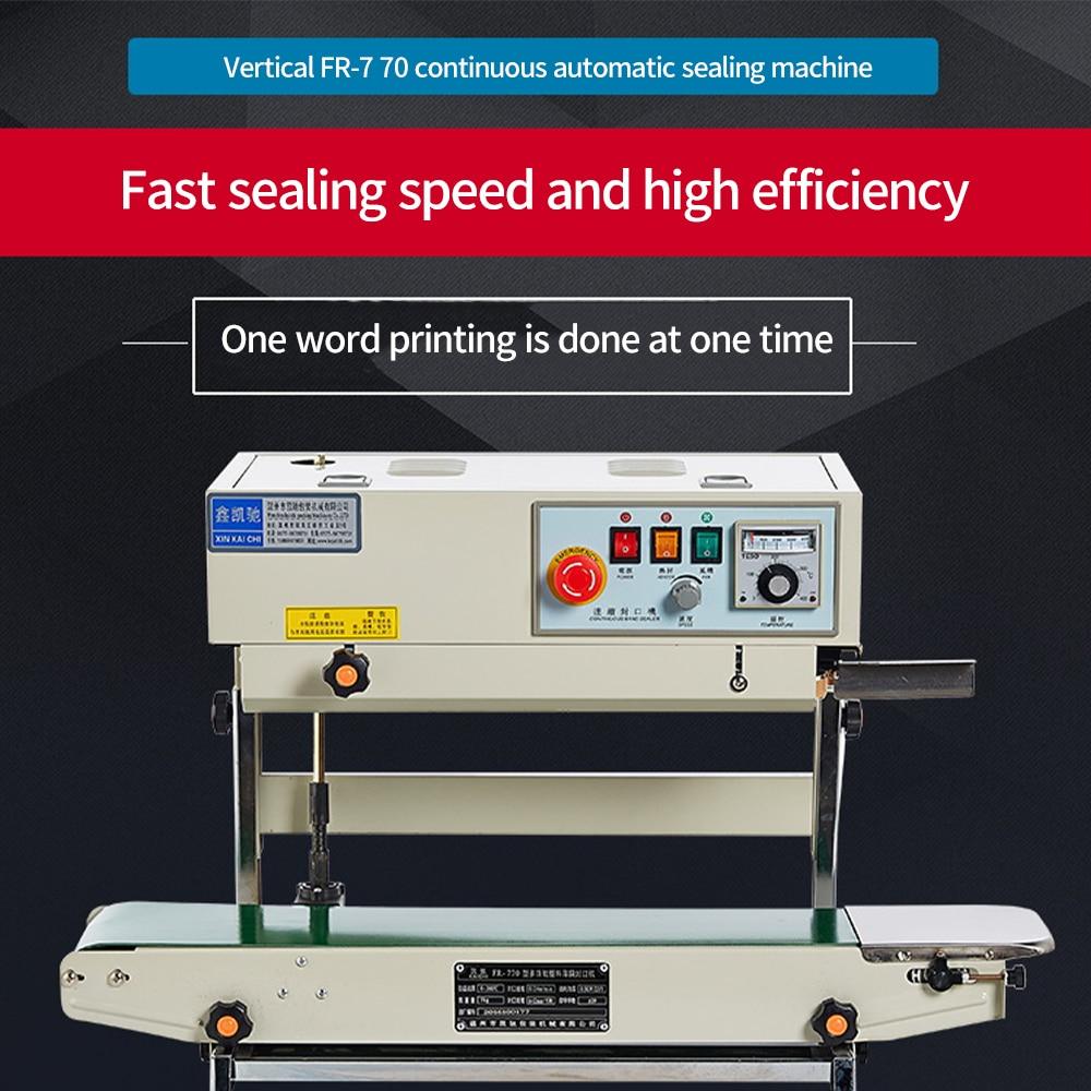 FR-770 Vertical Continuous Sealing Machine Automatic Packaging Machine Food Plastic Film Aluminum