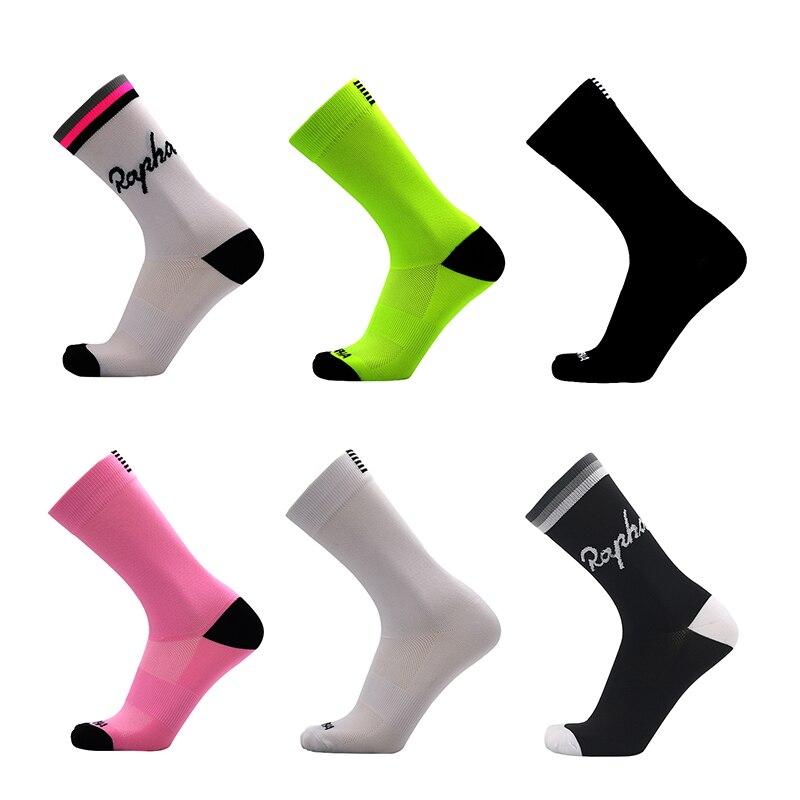 Calcetines de ciclismo de moda para hombre, deportivos profesionales transpirables, para bicicleta
