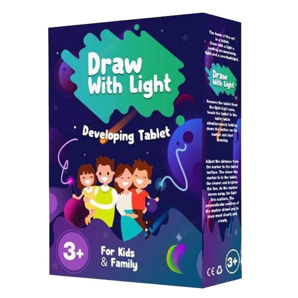 Tablero de escritura rompecabezas, tablero de escritura, tablero luminoso para niños, placa fluorescente de grafiti brillante, tablero de dibujo 3D