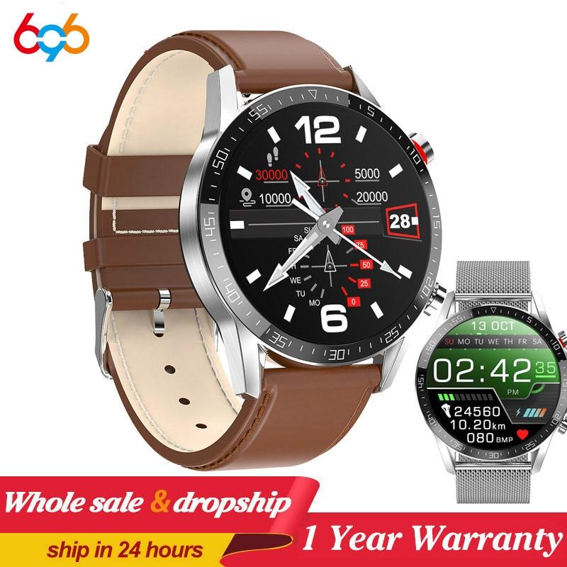 L13 Smart Watch GT05 Men ECG+PPG Waterproof Bluetooth Call Blood Pressure Fashion Wristbands Bracelet Fitness SmartWatch PK L7
