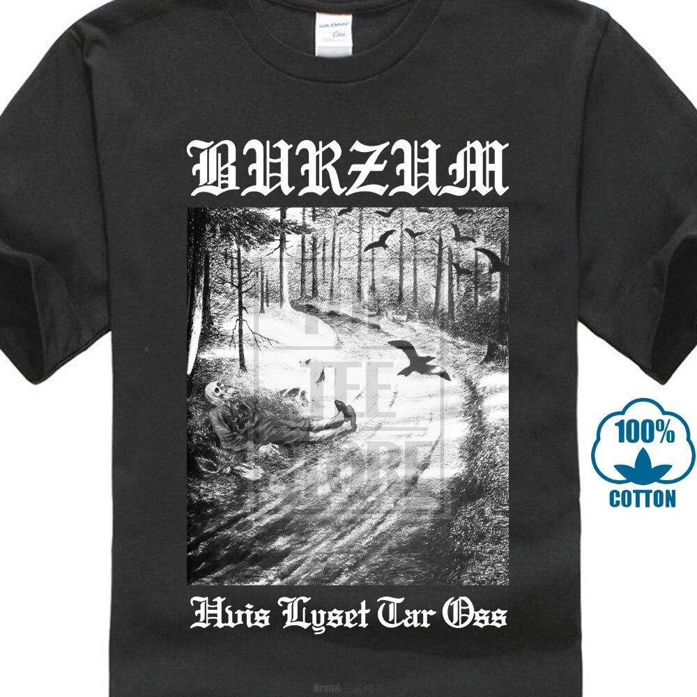 Camisetas talla grande informales estilo Hip Hop Tops camiseta S 2xl Burzum Hvis Lyset Tar Oss camiseta caliente vender 2019 de moda