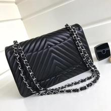 classic luxury designer handbags woman V letter flap shoulder bag import genuine soft lambskin leath