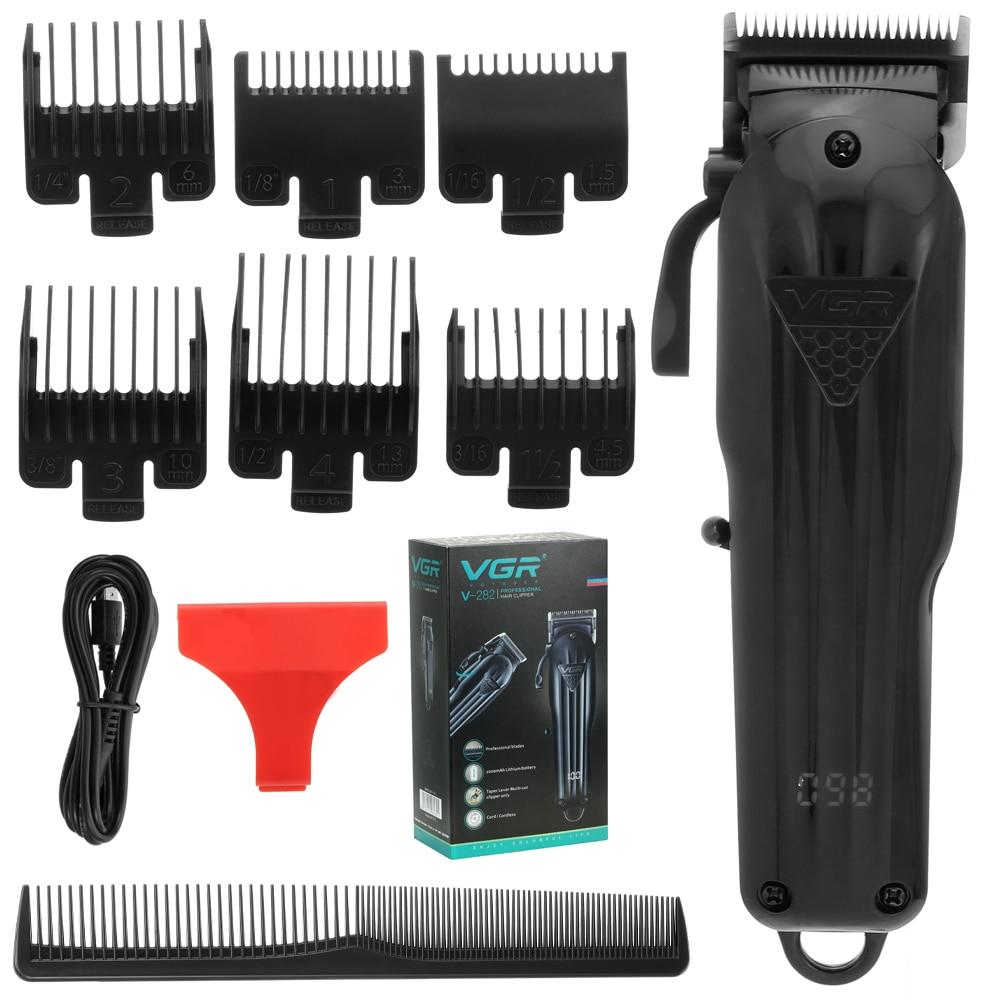 vgr todos os preto maquina de cortar cabelo eletrica corte cabelo maching trimmer