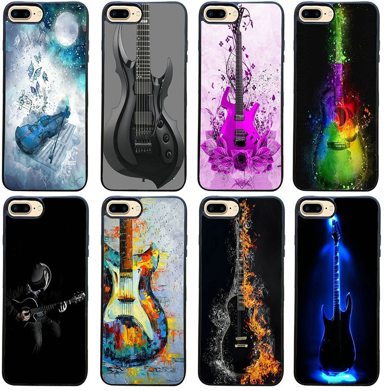 Funda de plástico duro para teléfono móvil, carcasa de Guitarra eléctrica para...