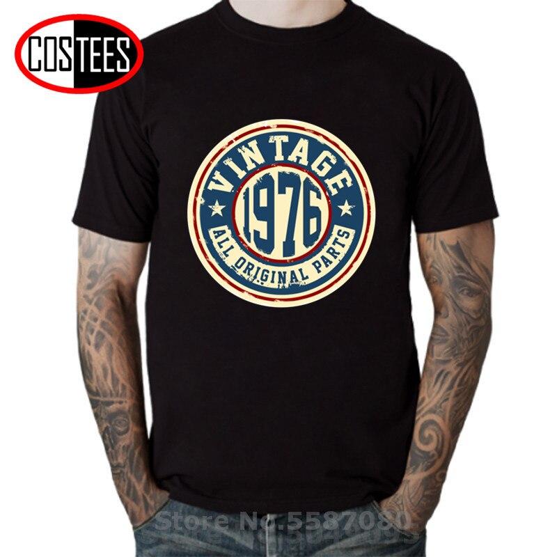 Camisetas Vintage 1976 para hombre, camiseta veraniega de 2018 años a la...