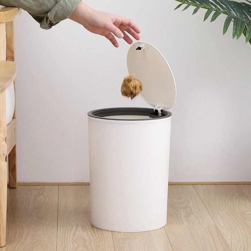 Скандинавское нажатие покрытое мусорное ведро креативное всплывающее практичное домашнее ведро для туалетной бумаги большая емкость мног...