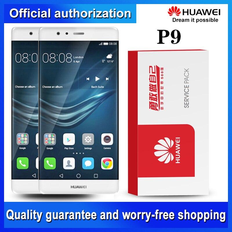 Repuesto Original de pantalla de 5,2 pulgadas con marco para Huawei P9 LCD MONTAJE DE digitalizador con pantalla táctil P9 EVA-L09 L19 L29 piezas de reparación