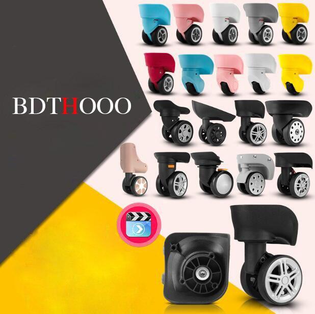 Rodas de substituição da bagagem para o reparo da mala mão girador rodízio rodas peças substituição do trole borracha W050-JYFJL