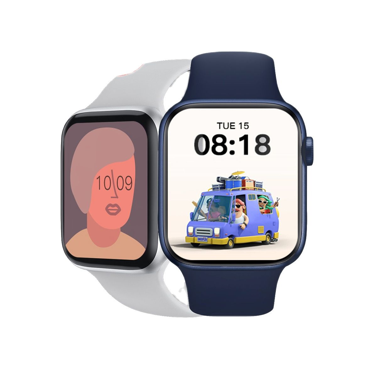 Review 4PCS AK76 Smart Watch IP67 Waterproof Sports Smartwatch 5UI Heart Rate Monitor Fitness Tracker Blood Pressure PK W26 W56 IWO 13
