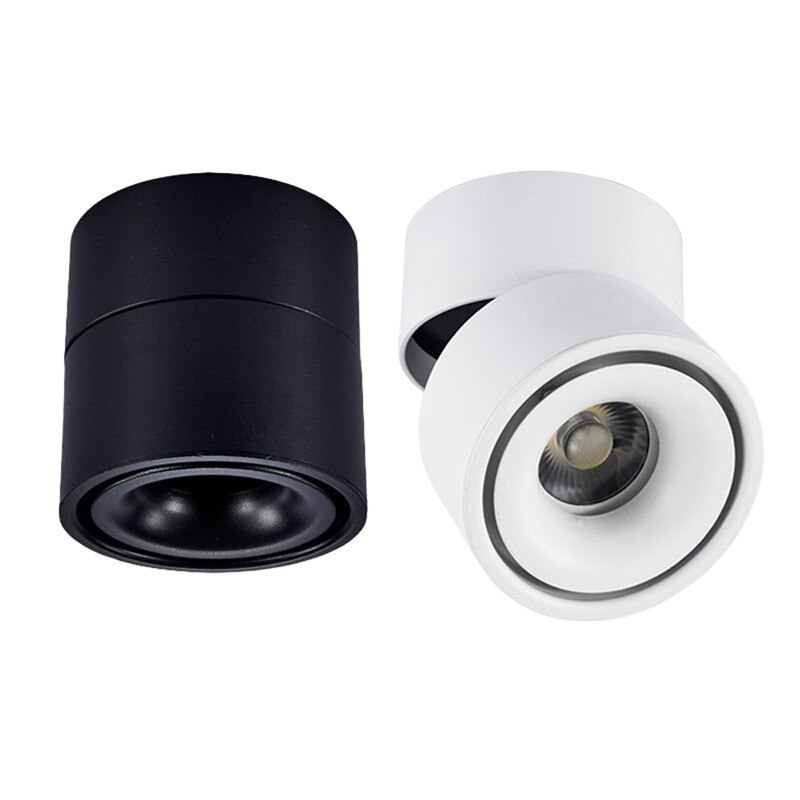 Surface mounted LED downlight 7W/12/15W foldable 360 degree rotating Nordic downlight AC85-265V for indoor lighting