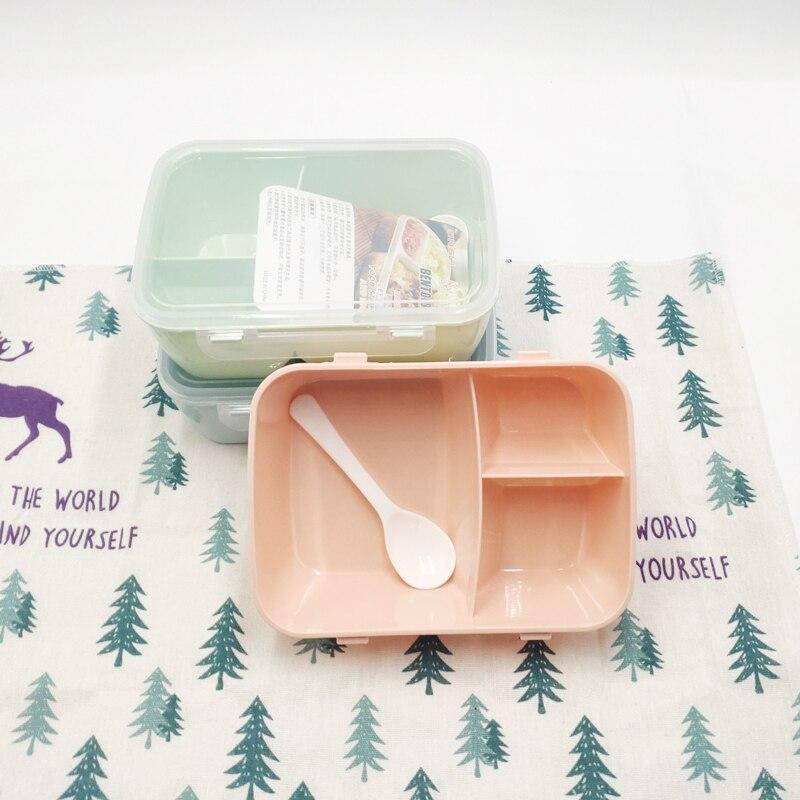 1 peça peças contenedor de comida salubre caja de almuerzo porttil com cuchara capacidade de acampamento piquenique comida co