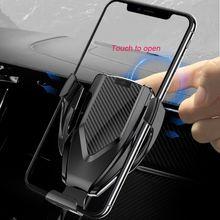 Caricatore Senza Fili Air Vent + CD di Montaggio Automatico di Bloccaggio veloce Caricabatteria Per Auto Del Supporto Del Basamento per il iPhone Ricarica per Samsung Huawei