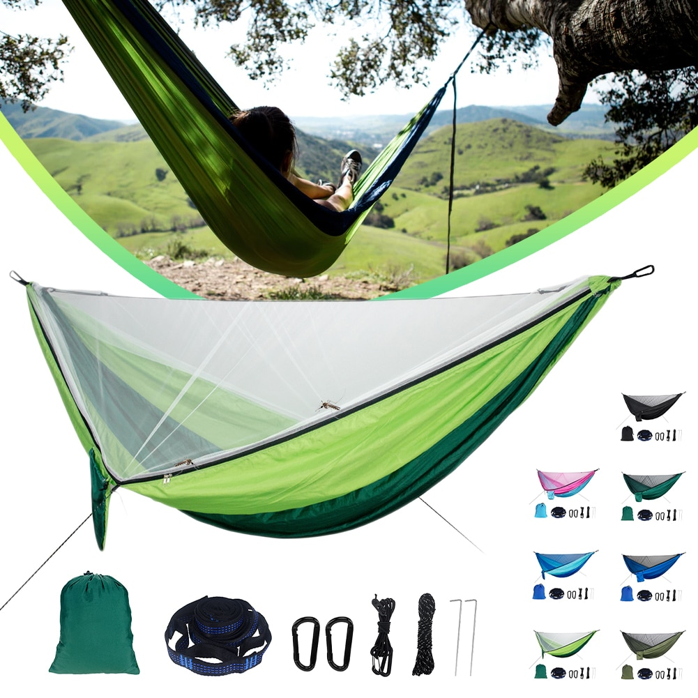 200x90x180cm camping mosquito net travel tent mosquito net camping tent net outdoor net for camping hiking backpacking Camping Hammock With Mosquito Net Parachute Material Portable Hammock For Camping Indoor Hiking Backpacking Travel Backyard
