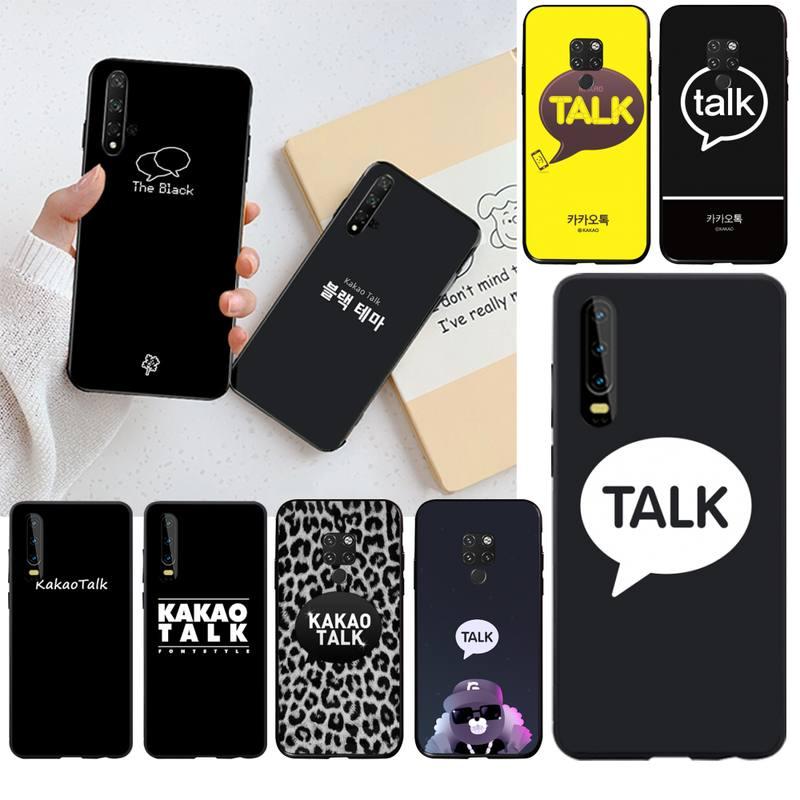 Мягкий силиконовый черный чехол с логотипом HPCHCJHM Kakao Talk для Huawei P30 P20 lite Mate 20 Pro lite P Smart, 2019
