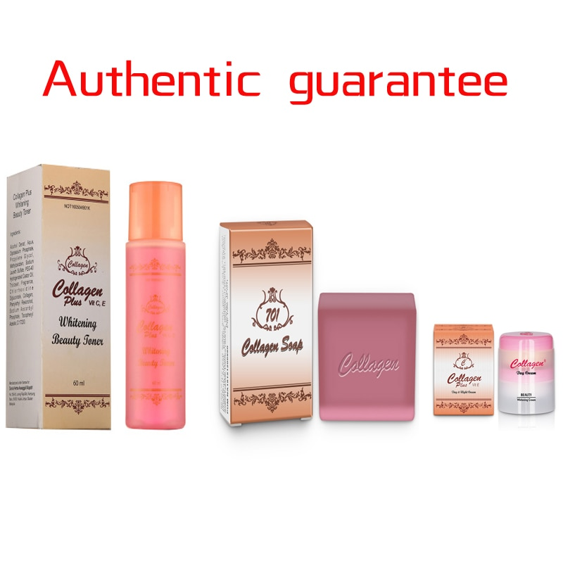 Collagen Cream And Soap Vitamin E Day And Night Cream Anti Aging Brightening Beauty Cream+Handmade Essence Facial Soap Face Care