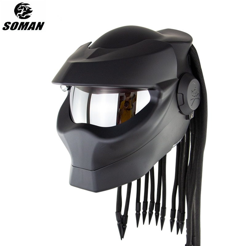 سومان-خوذة دراجة نارية مع ضفائر نقطة ، جودة عالية ، قناع تنكري مخصص
