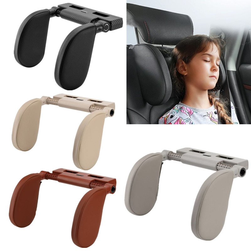 Adjustable Car Seat Headrest Neck Rest Support Pillow Travel Sleeping Cushion for Adults Children Kids