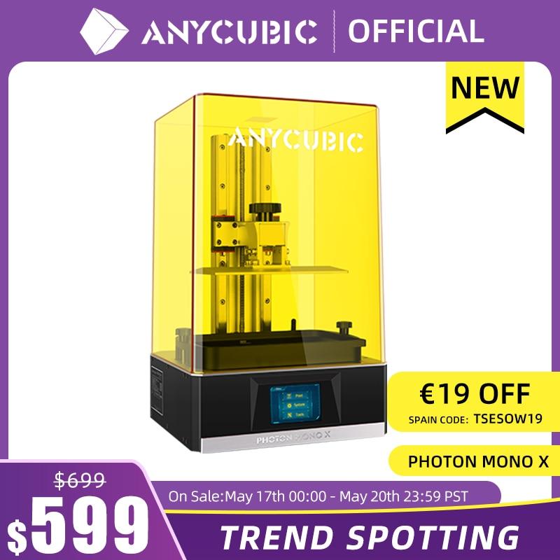 aliexpress.com - ANYCUBIC Photon Mono X 3D Printer 8.9 inch 4K Monochrome LCD UV Resin Printers 3D Printing High Speed APP Control SLA 3D Printer