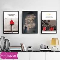 Toile de decoration de noel  affiches de peinture  coeur rouge et velo  tableau dart mural pour salon  decoration de maison
