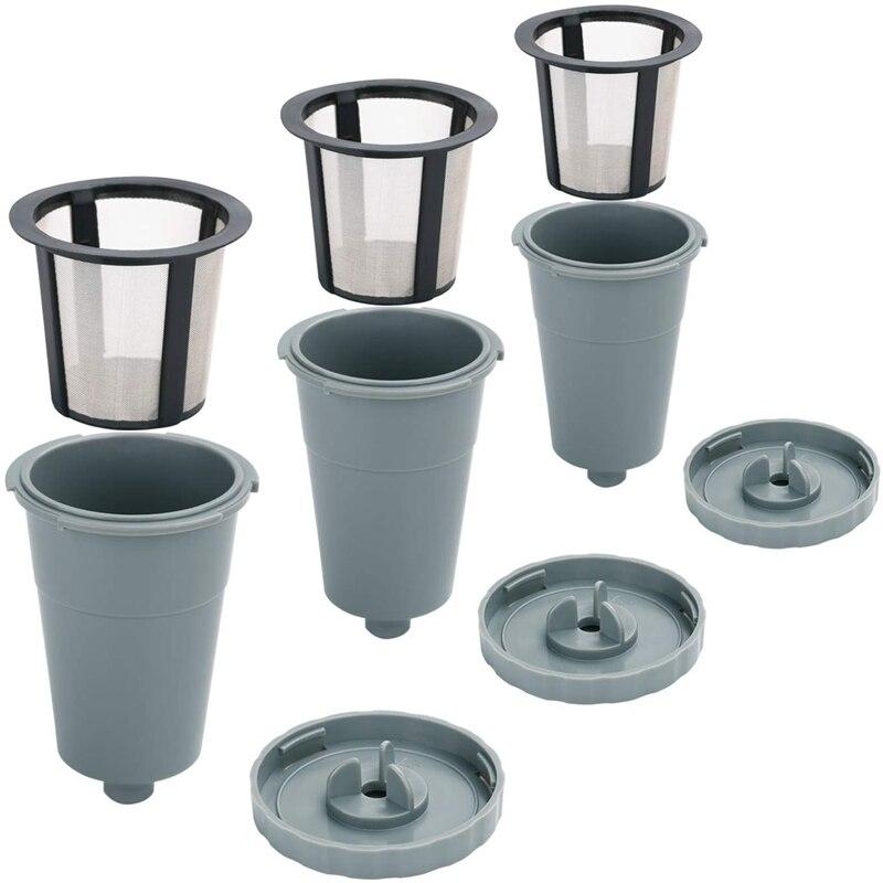 Filtro reutilizable, filtros de café, tazas K reutilizables para Keurig aptas para la serie B30 B40 B50 B60 B70, taza individual recargable fácil de usar,