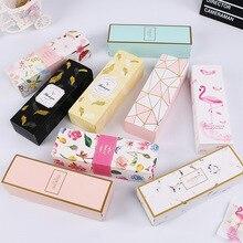 Sac en papier marbré avec flamant rose créatif, 1 unité, sacs fourre-tout en papier pour gâteaux de mariage, fournitures de fête, boîtes demballage pour gâteaux de mariage