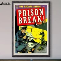 Escape King V079 1952  Affiche en soie personnalisee  Vintage  film classique  decoration murale  cadeau de noel