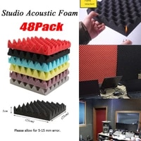 beiyin 48pack egg crate acoustic foam soundproof panel sound isolation silencing studio sound treatment tiles 10x10x2inch