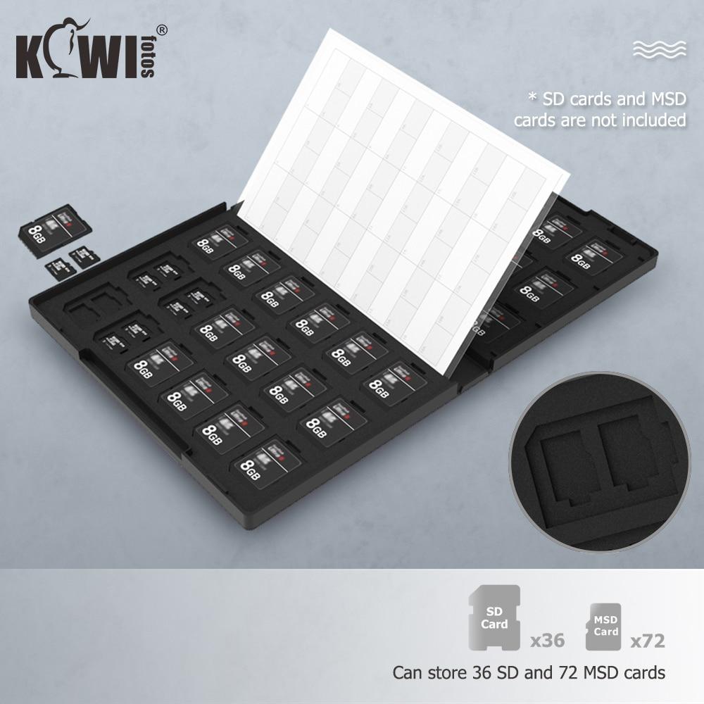 108 Slots Memory Card Case Holder Storage Organizer for SD SDHC SDXC TF MSD MicroSD MicroSDHC MicroSDXC Card for DSLR Mirrorless