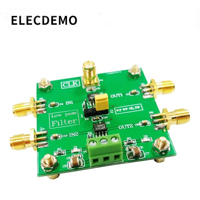 LTC1069 Module 8th order low pass filter Progressive Ellipse filter 2-Way Output  External clock Control Module demo board free shipping flp11p 1000 1000mhz high order low pass filter rf coaxial lc lpf sma sensor
