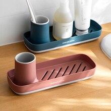 Nordic home tray creative bathroom organizer toothbrush soap storage box kitchen accessories sponge rack organizer serving tray