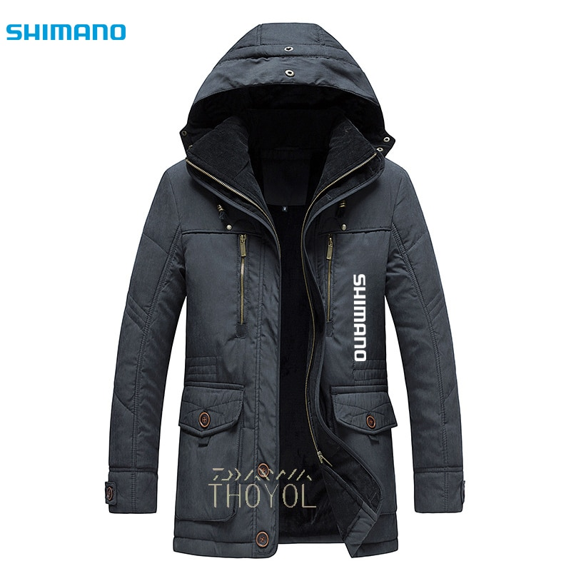 Shimano Winter Fishing Jacket Waterproof Outdoor Wear Fishing Clothes Hooded Windbreaker Warm Thicken Sports Fishing Clothing enlarge