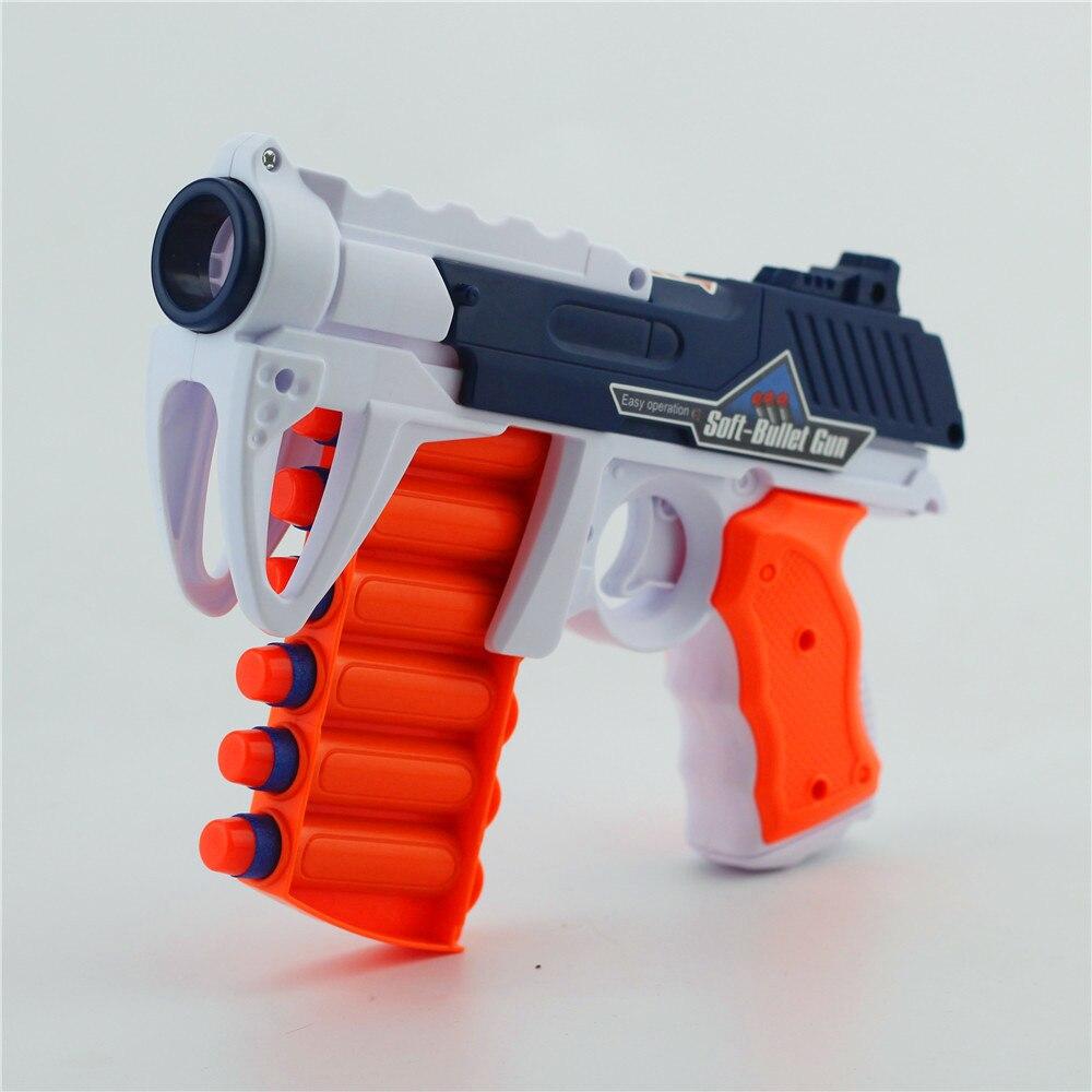 2019 nuevo 6 disparos Manual pistola de balas suaves traje para Nerf juguete de balas pistola dardo pistola de chorro de juguete para niños