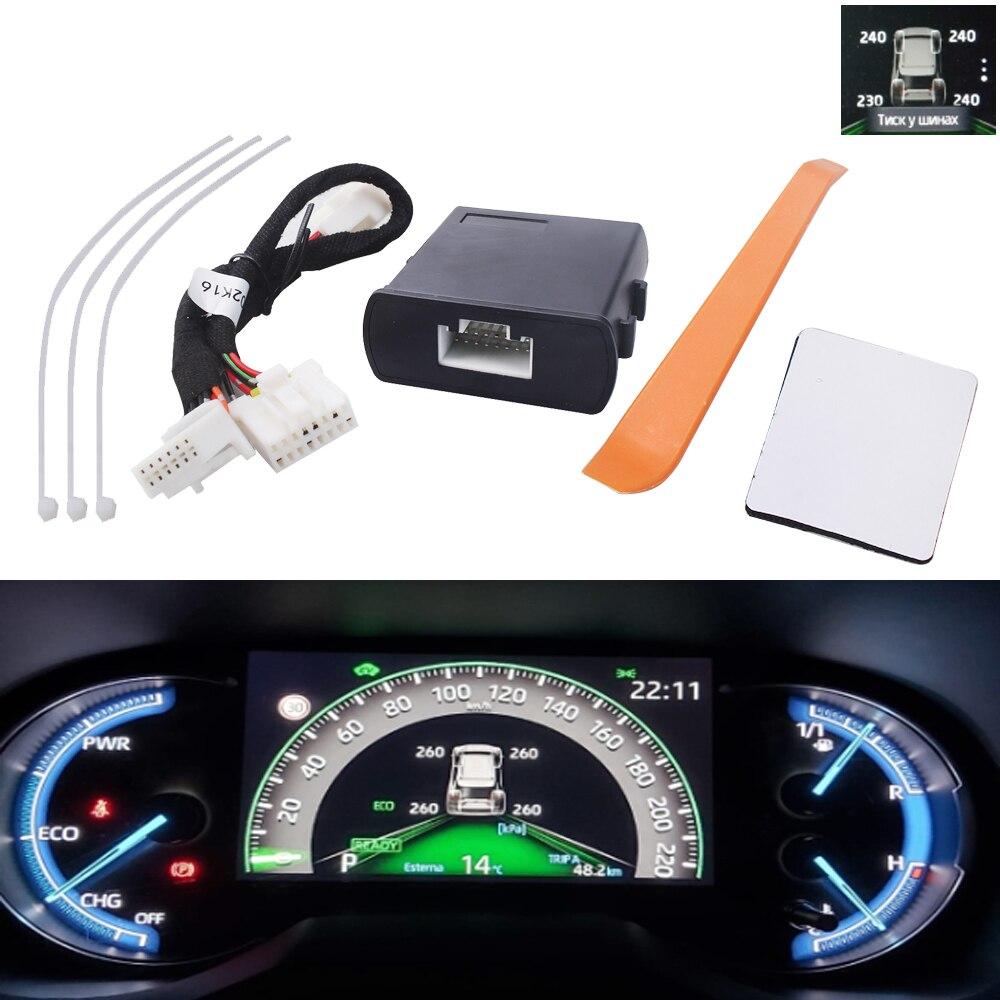 Автомобильная TPMS телефон, цифровой ЖК-дисплей, Автомобильная сигнализация безопасности для Toyota Rav4 2019 2020 Xa50