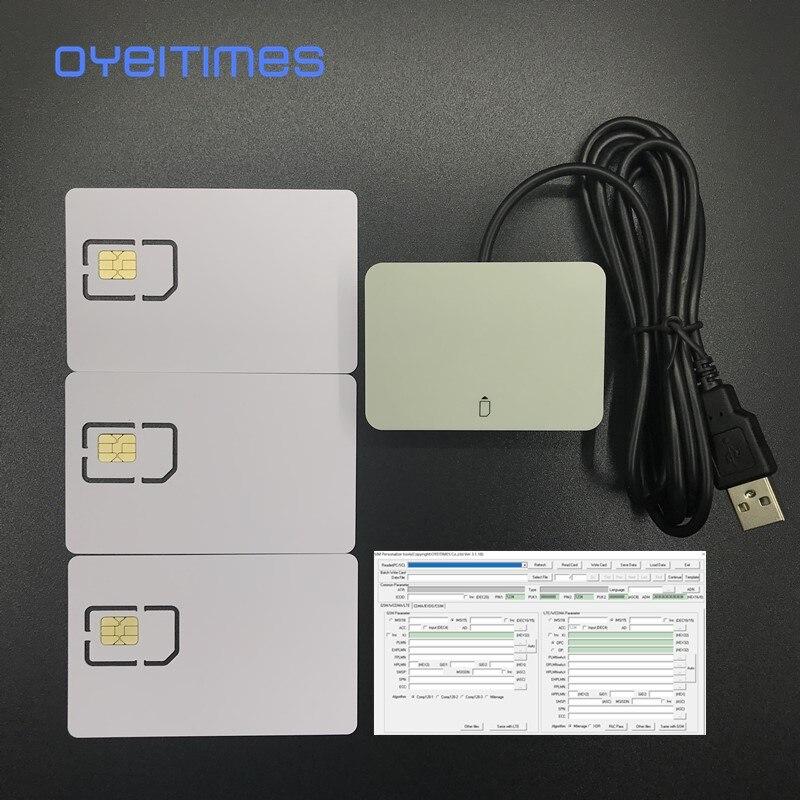 OYEITIMES SIM Card Reader+3PCS 2FF/3FF/4FF Programmable 5G NR 3GPP R16 ISIM Card Blank 5G ISIM Card +4.2.1 SIM Personalize Tools enlarge