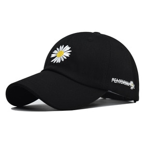 New style small chrysanthemum baseball cap cotton chrysanthemum peak cap all-match trendy men and women cotton hat