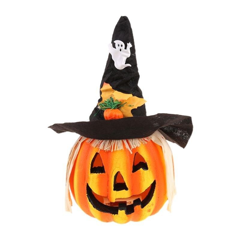 Хэллоуин полый светящийся светильник тыквы бар атмосфера украшения реквизит, для большого дома с привидениями Хэллоуин украшение D08D