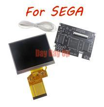 Сменный ЖК экран для игровой приставки SEGA V2, полноэкранный дисплей V2, ЖК дисплей с подсветкой, яркость подсветки