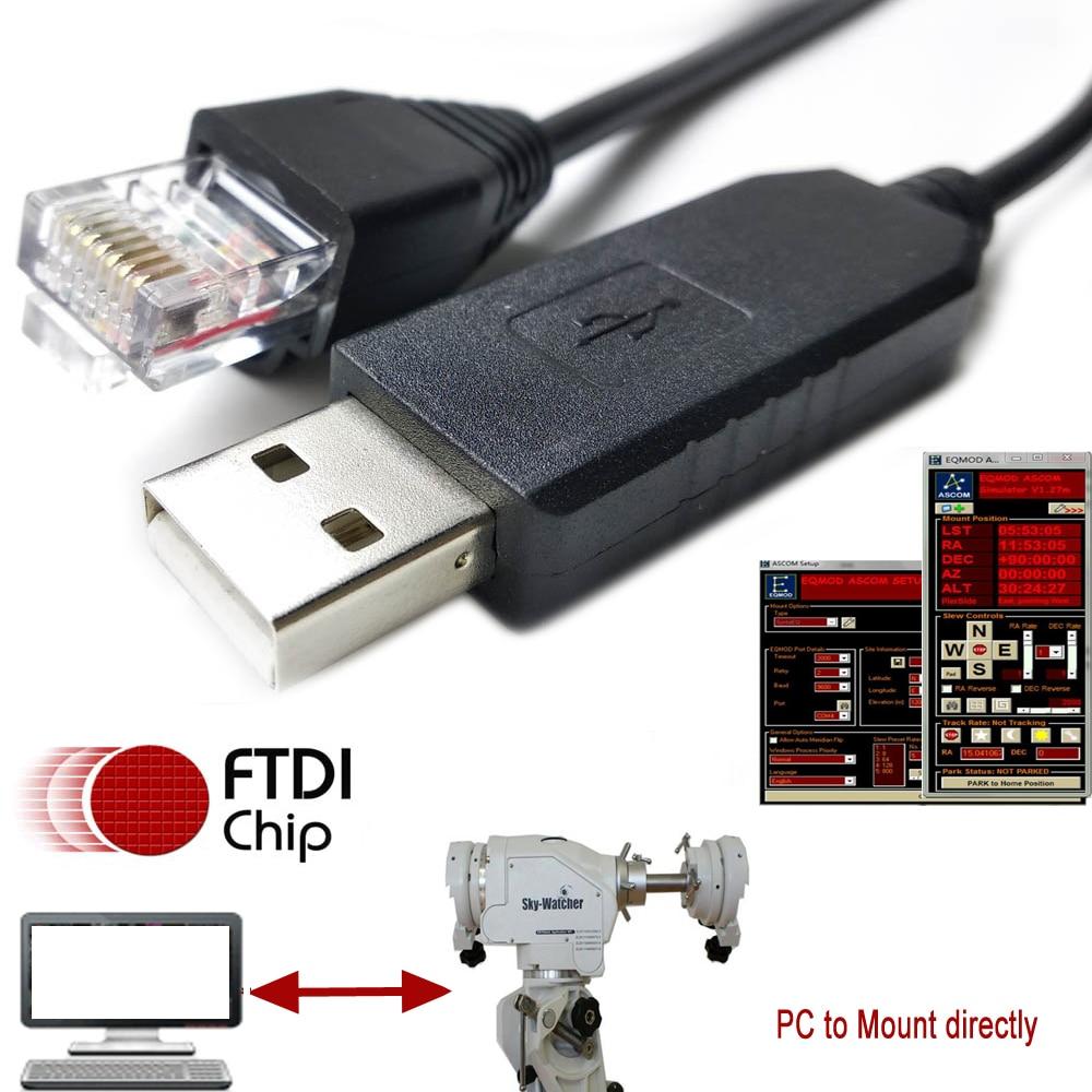 Skywatcher EQ6-R AZEQ6 AZEQ5 EQMOD ASCOM NEQ6 EQMOD kable synscan_hand_controler_ascom_driver cable