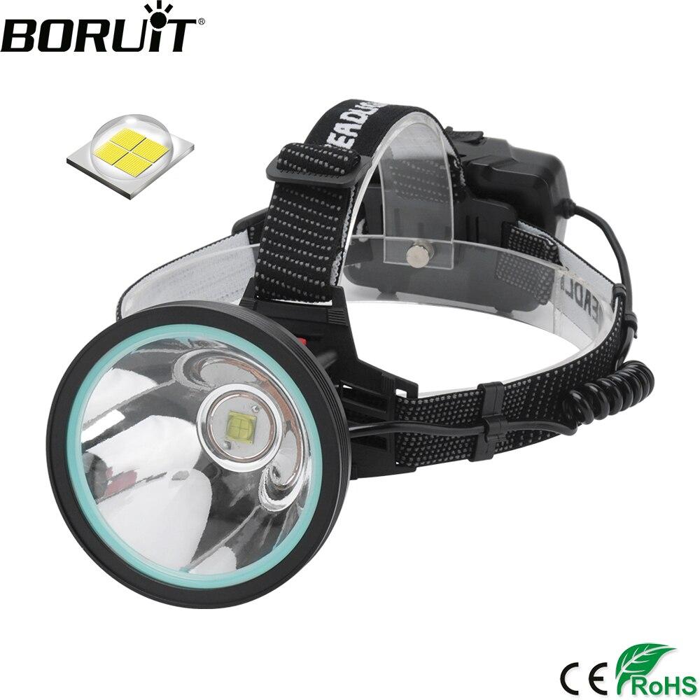Boruit k09 XHP-90 led sensor farol de alta potência 8000lm recarregável 18650 cabeça tocha banco potência lanterna para acampamento