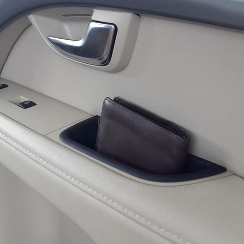 Front Door Handle Storage Box 2pcs Car Styling For Volvo XC70 V70 S80 Auto Interior Organizer Accessories
