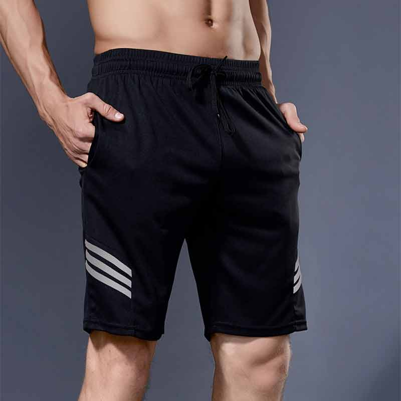 Shorts Men Running Shorts Quick Dry Workout Jogging Gym Fitness Sport Short Reflective Mens Running Sweatpants with Pockets