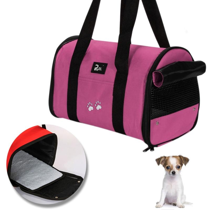 Bolsa de transporte para perros y gatos, bolsa portátil para perros, jaula de transporte, bolsa de transporte transpirable para gatos y perros, bolsa de viaje plegable