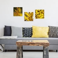 golden plant leaves wall art canvas painting wall pictures for living room nordic decoration pictures morden decor
