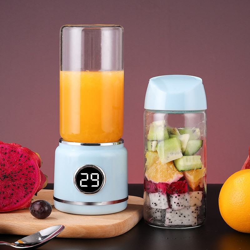 420ml Portable Blenders 304 stainless steel six leaf blade 16000 revolutions per minute USB Electric