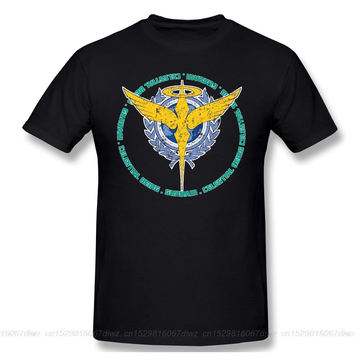 Camisetas divertidas de algodón con estampado de verano Celestial Being, camiseta de manga corta, traje móvil GUNDAM, ropa de calle de moda para hombre