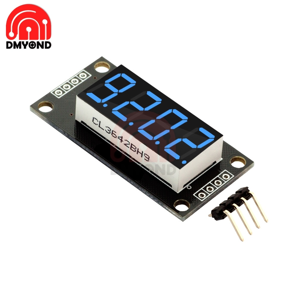 ¡Oferta! TM1637 Módulo De Pantalla LED para Arduino 7 segmentos 4 Bits 0,36 pulgadas reloj azul ánodo tubo Digital cuatro Serial Driver Paquete de placa