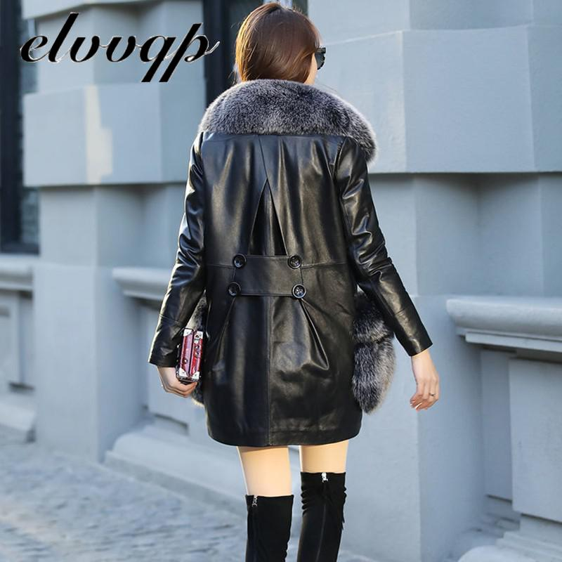 Women Thick Warm Pu Faux Leather Padded Coat 2020 New Winter Fur Pocket Big Fur Collar Jacket Parka High Quality Outerwear Tops enlarge